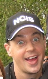 Sean Murray on the set of NCIS, October 2009