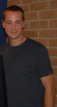 Sean Murray on the set of NCIS, October 21, 2009