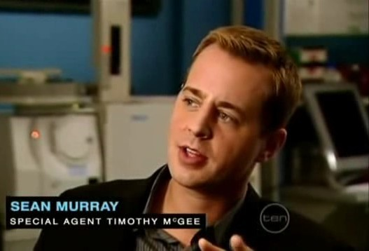 Sean Murray, interview Channel TEN (australia) on the set, October 2009
